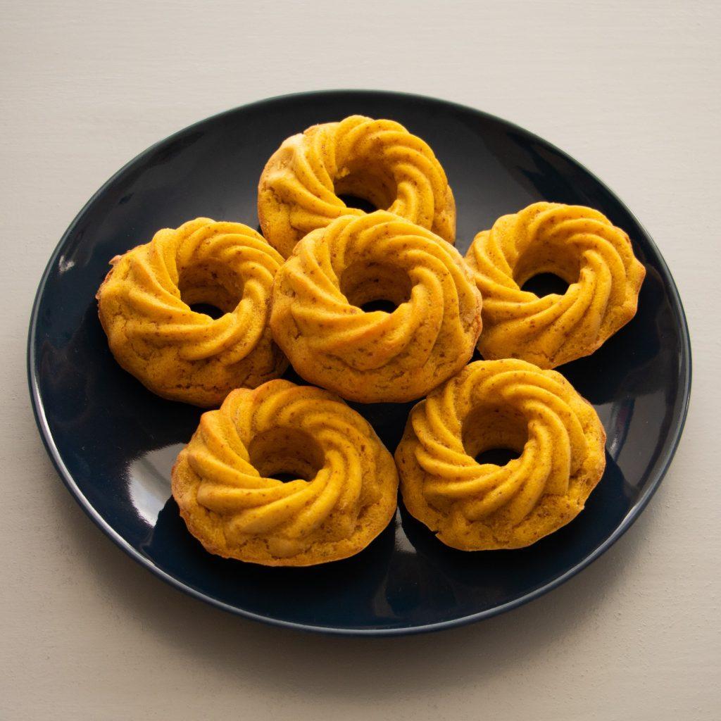 Muffins de laranja e amêndoa
